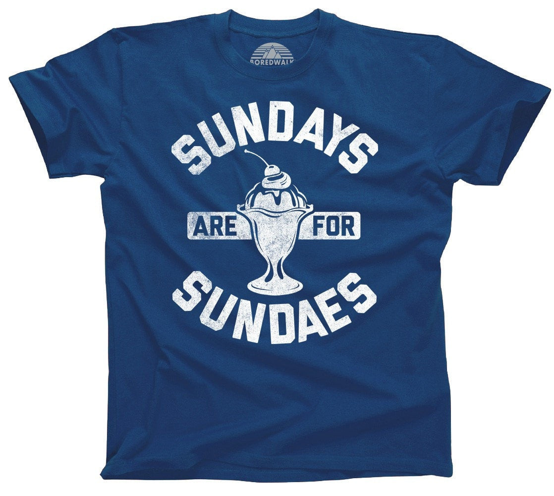 Men's Sundays are for Sundaes T-Shirt Cool Hipster Foodie Ice Cream Fashion