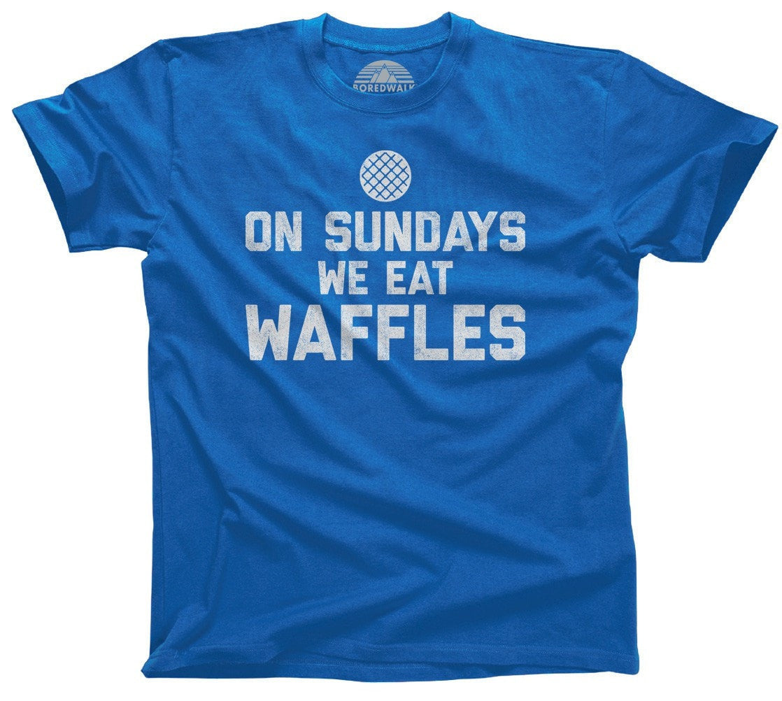 Men's On Sundays We Eat Waffles T-Shirt