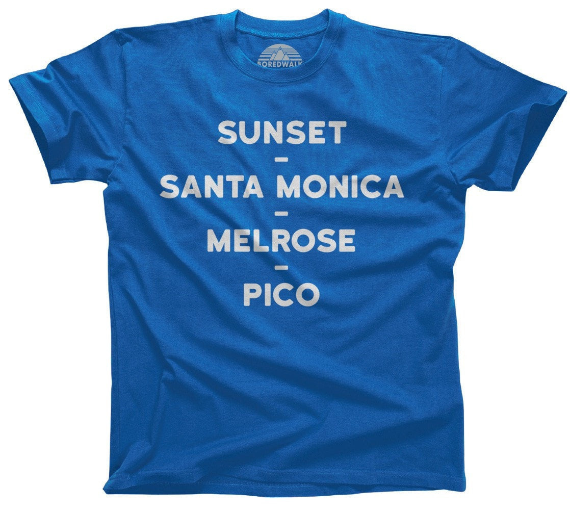 Men's Sunset Santa Monica Melrose Pico T-Shirt Los Angeles