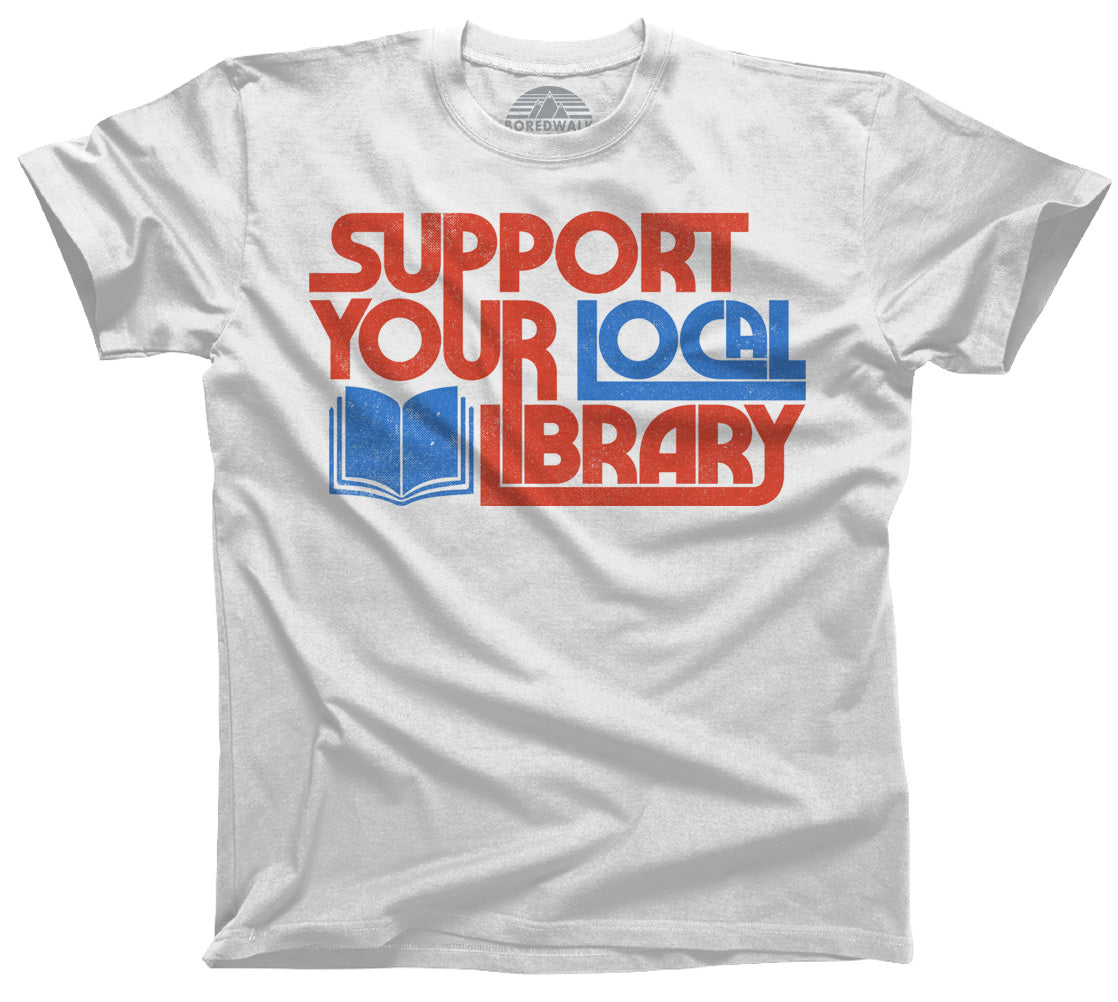 Men's Support Your Local Library T-Shirt