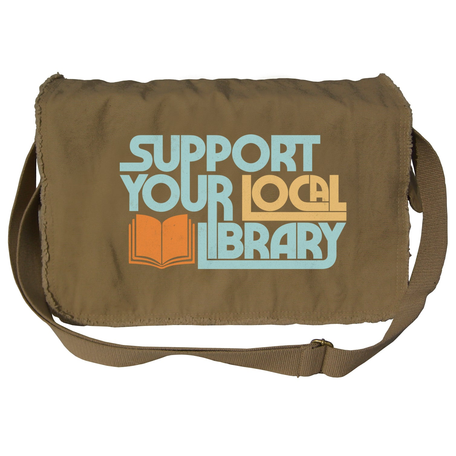 Support Your Local Library Messenger Bag