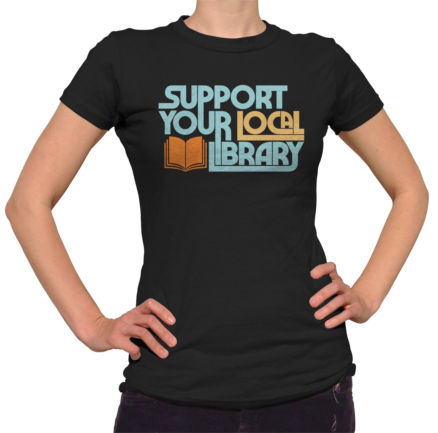 Women's Support Your Local Library T-Shirt
