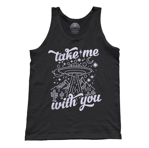 Unisex Take Me With You Alien UFO Shirt Tank Top