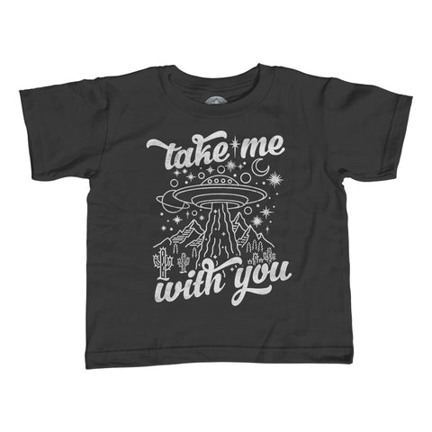 Girl's Take Me With You Alien UFO Shirt T-Shirt - Unisex Fit