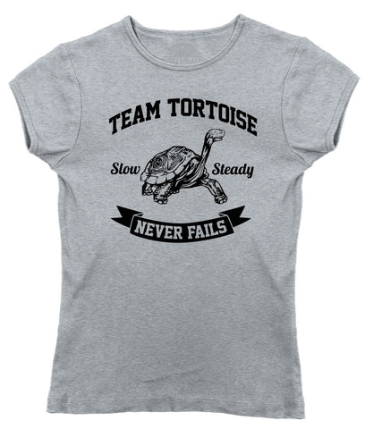 Women's Slow And Steady Tortoise T-Shirt - Juniors Fit
