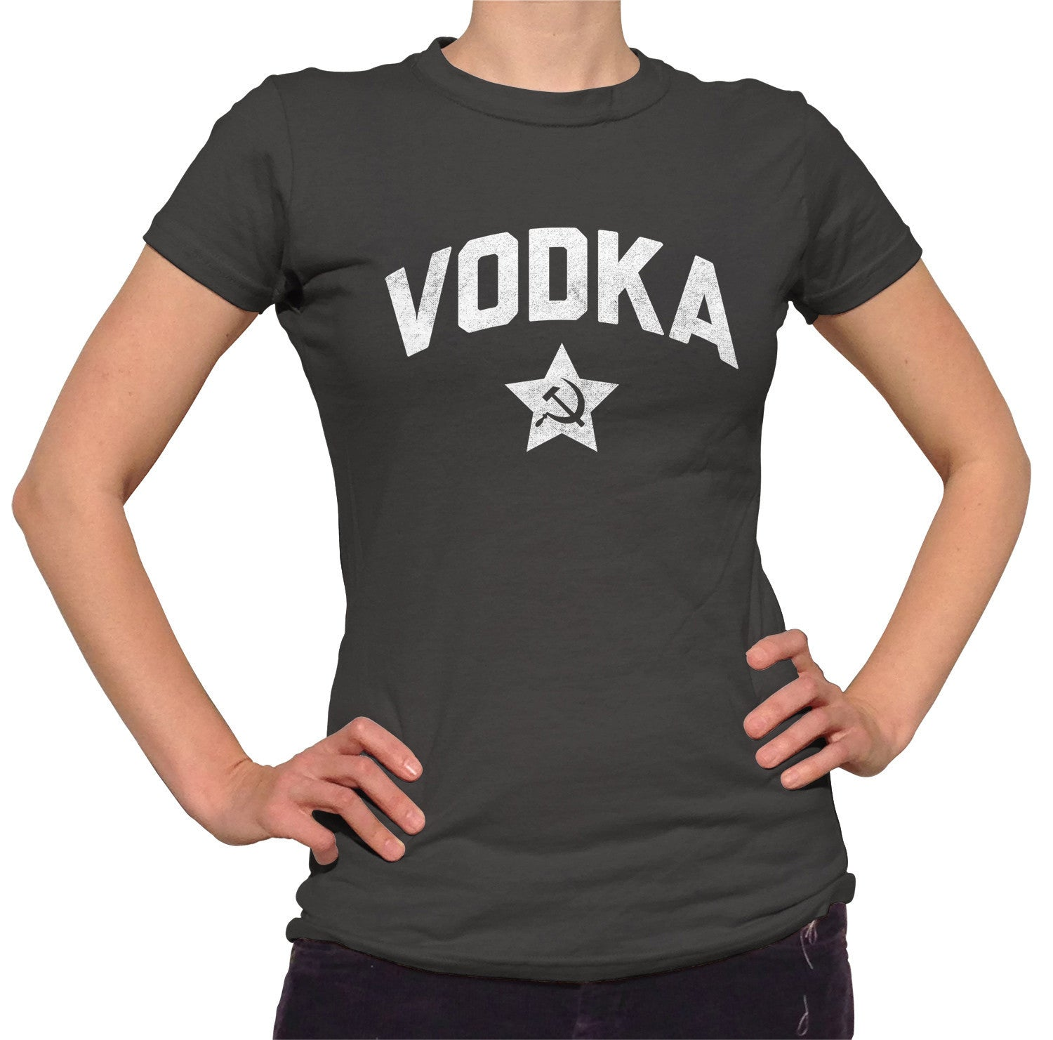 Women's Team Vodka T-Shirt Cool Funny Drinking