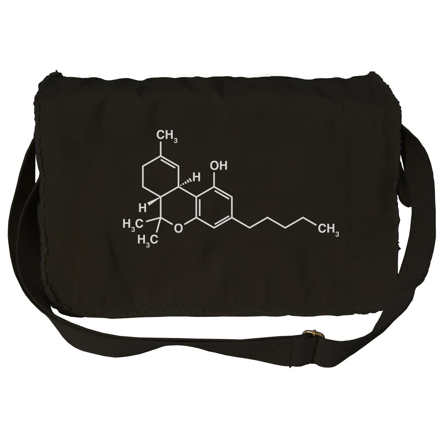 THC Molecule Messenger Bag