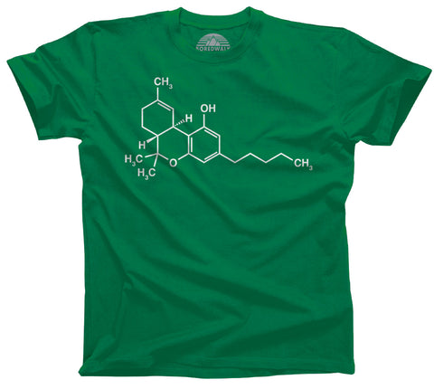 Men's THC Molecule T-Shirt - Stoner 420 Cannabis Shirt