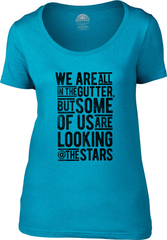 Women's Looking At the Stars Oscar Wilde Scoop Neck Shirt