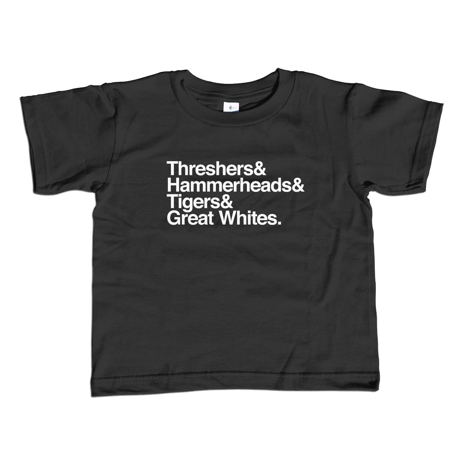 Boy's Threshers and Hammerheads and Tigers and Great Whites Shark T-Shirt