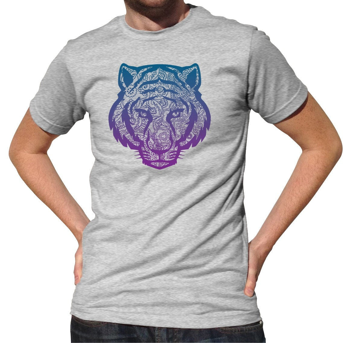 Men's Mandala Tiger T-Shirt New Age Yoga