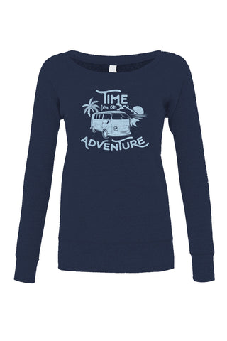 Women's Time For An Adventure Scoop Neck Fleece - Juniors Fit