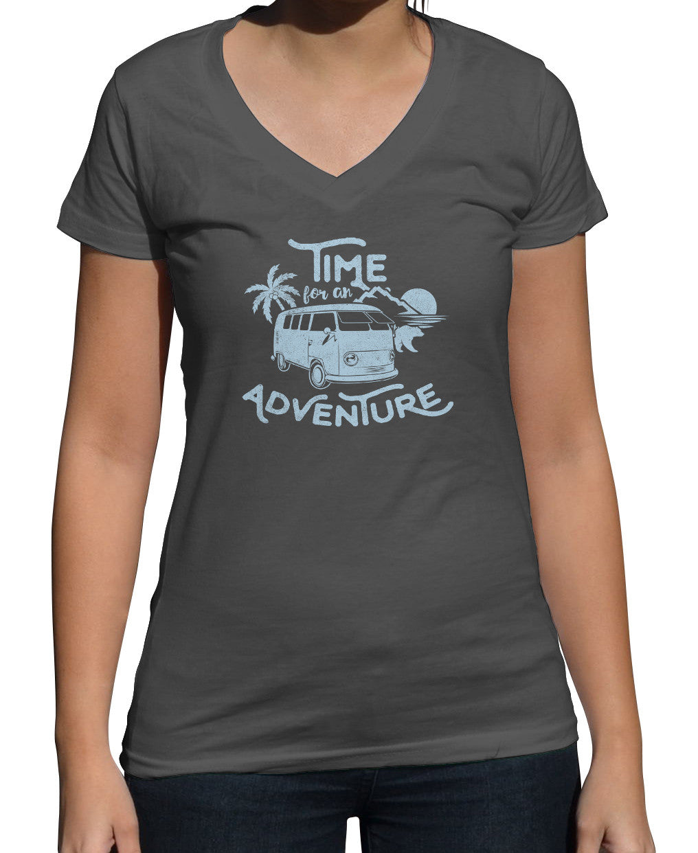 Women's Time For An Adventure Vneck T-Shirt