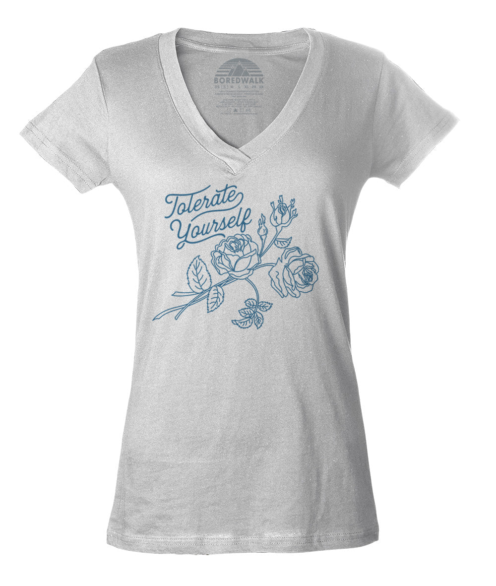Women's Tolerate Yourself Vneck T-Shirt
