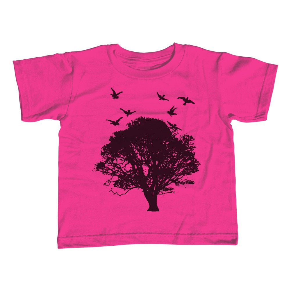 Girl's Tree and Birds T-Shirt - Unisex Fit Cool Hipster Nature
