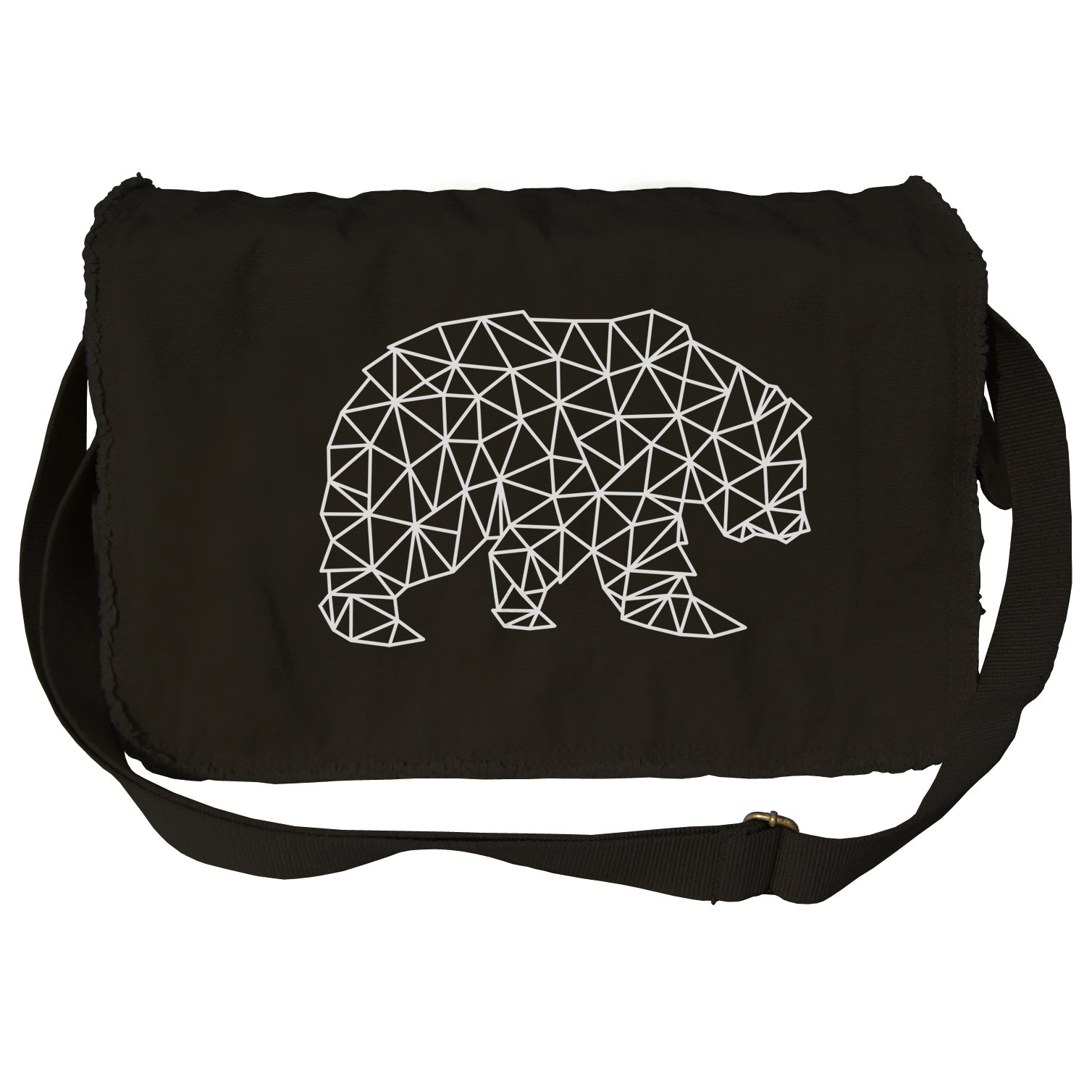 Geometric Bear Messenger Bag