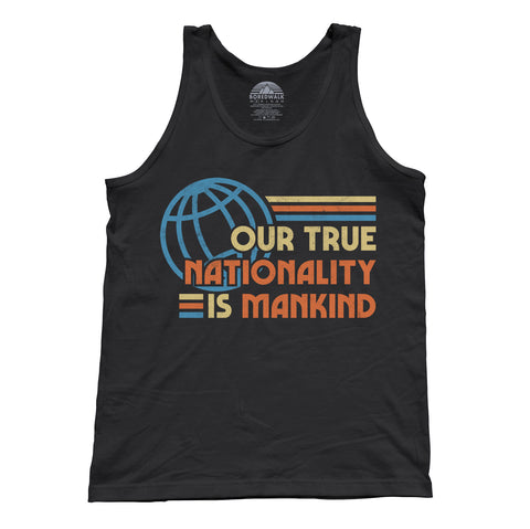 Unisex Our True Nationality is Mankind Tank Top
