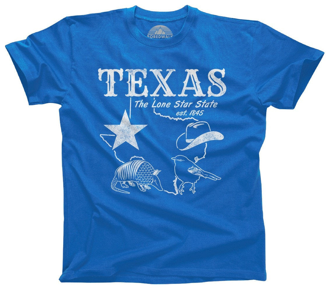 Men's Vintage Texas T-Shirt Dallas Houston San Antonio Austin