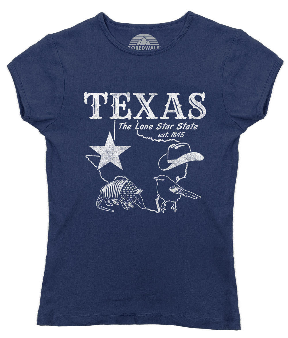 Women's Vintage Texas T-Shirt Dallas Houston San Antonio Austin