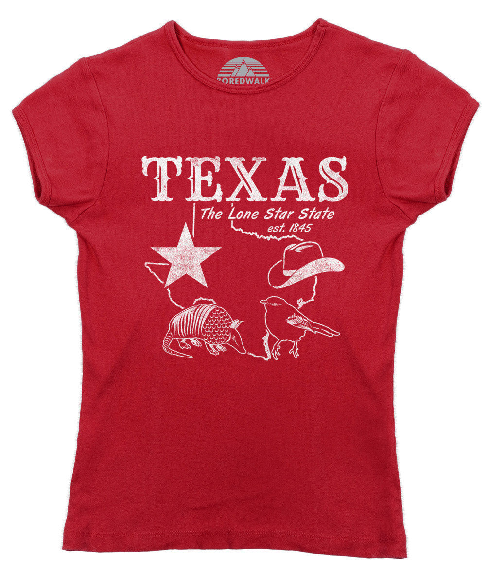 c1a5acb9 Women's Vintage Texas T-Shirt Dallas Houston San Antonio Austin