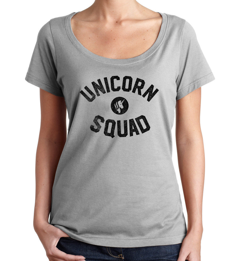 Women's Unicorn Squad Scoop Neck Shirt