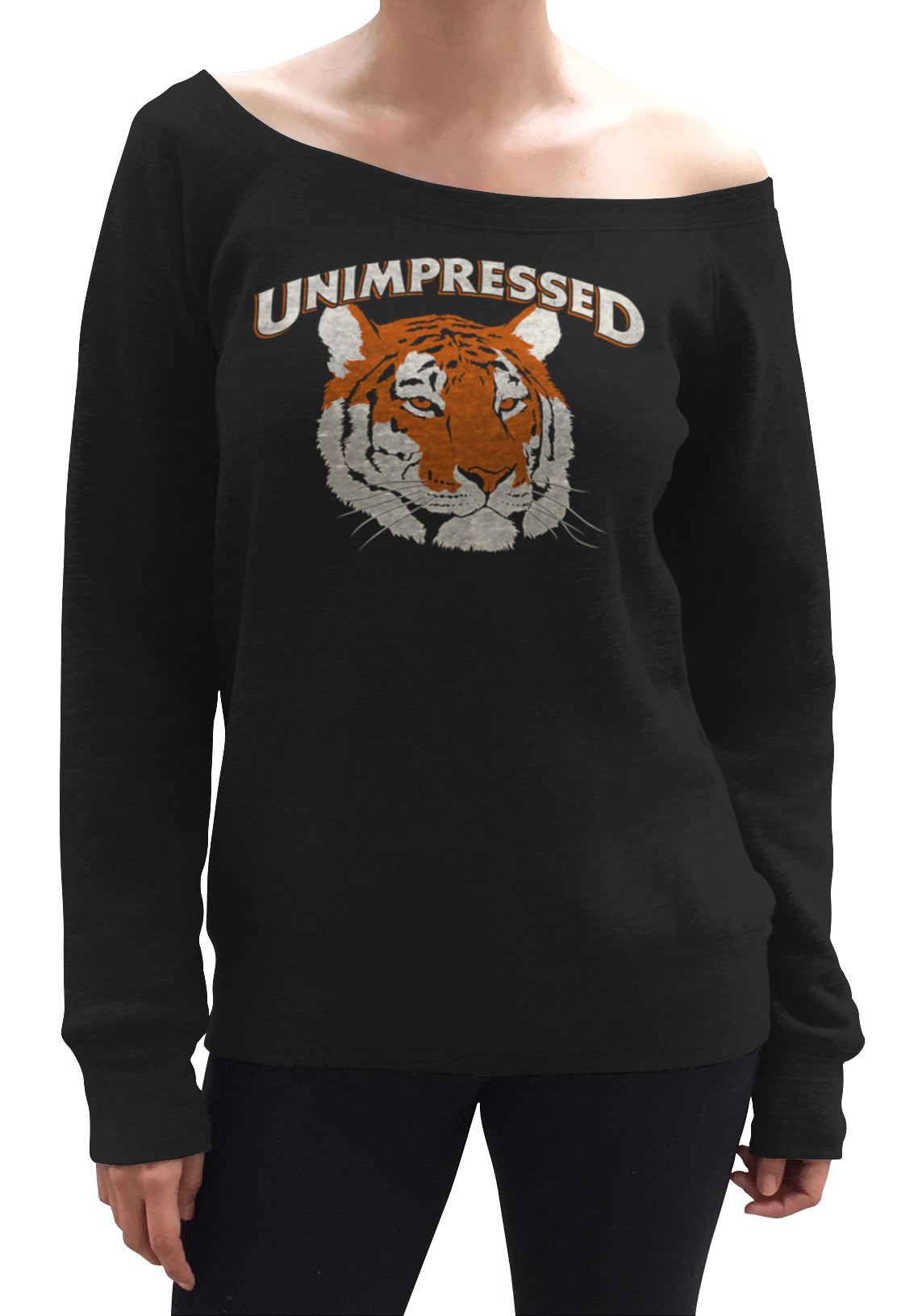 Women's Unimpressed Tiger Scoop Neck Fleece