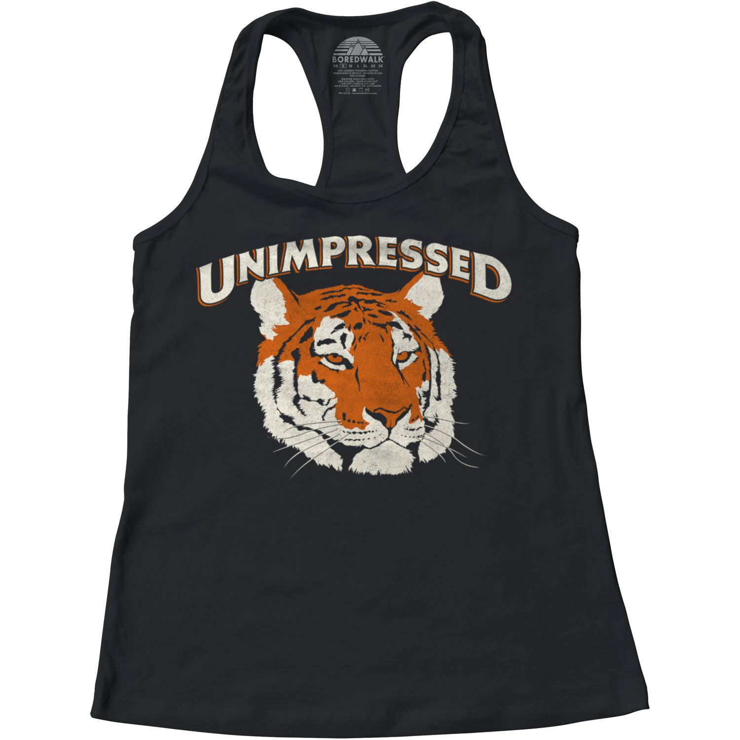 Women's Unimpressed Tiger Racerback Tank Top