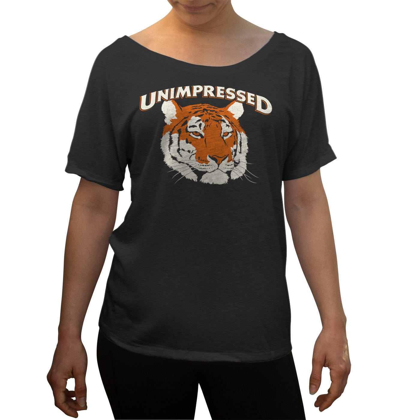 Women's Unimpressed Tiger Scoop Neck T-Shirt