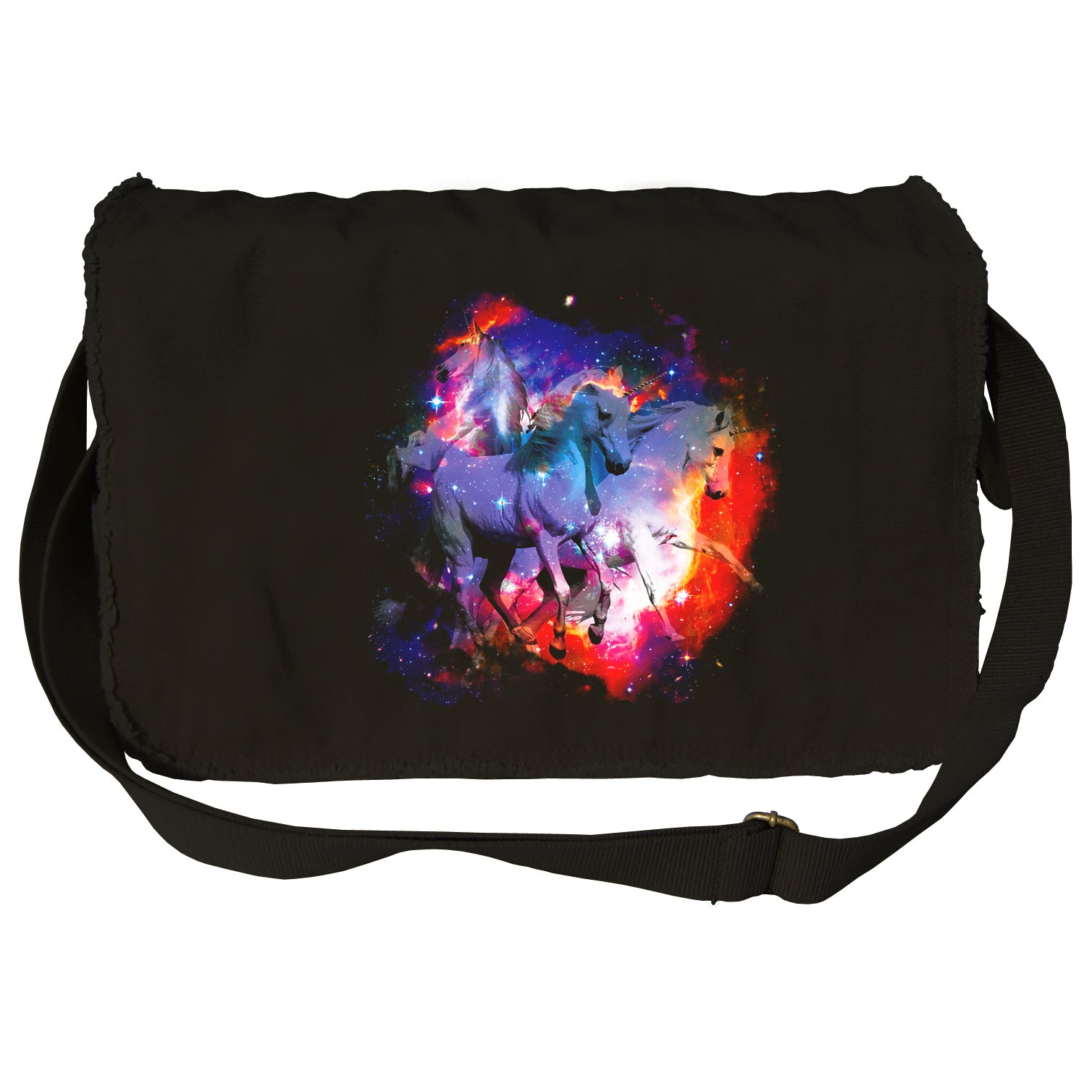 Unicorns In Space Messenger Bag