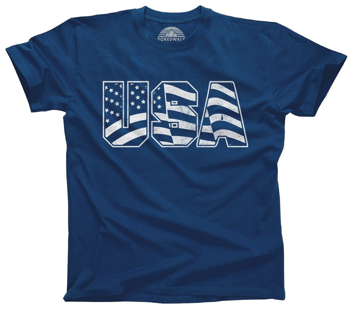 Men's USA T-Shirt America Patriotic