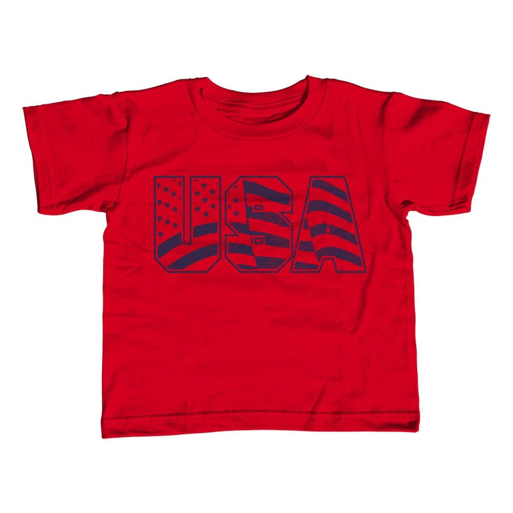 Girl's USA T-Shirt - Unisex Fit America Patriotic