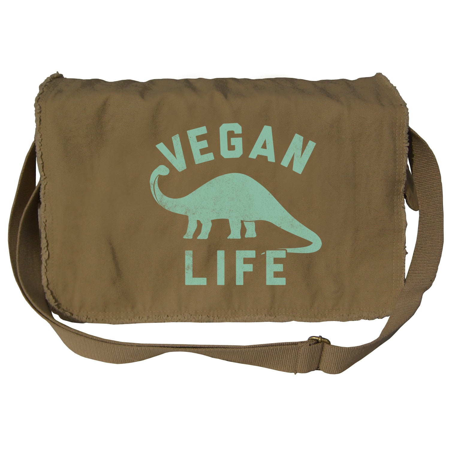 Brontosaurus Vegan Life Messenger Bag