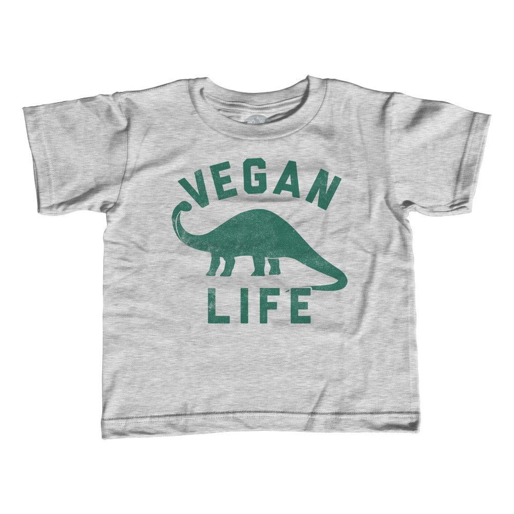 Girl's Brontosaurus Vegan Life T-Shirt - Unisex Fit - Funny Vegan Shirt