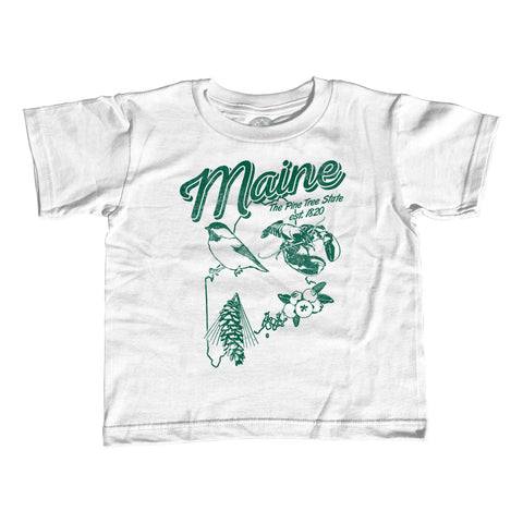 Girl's Vintage Maine T-Shirt - Unisex Fit