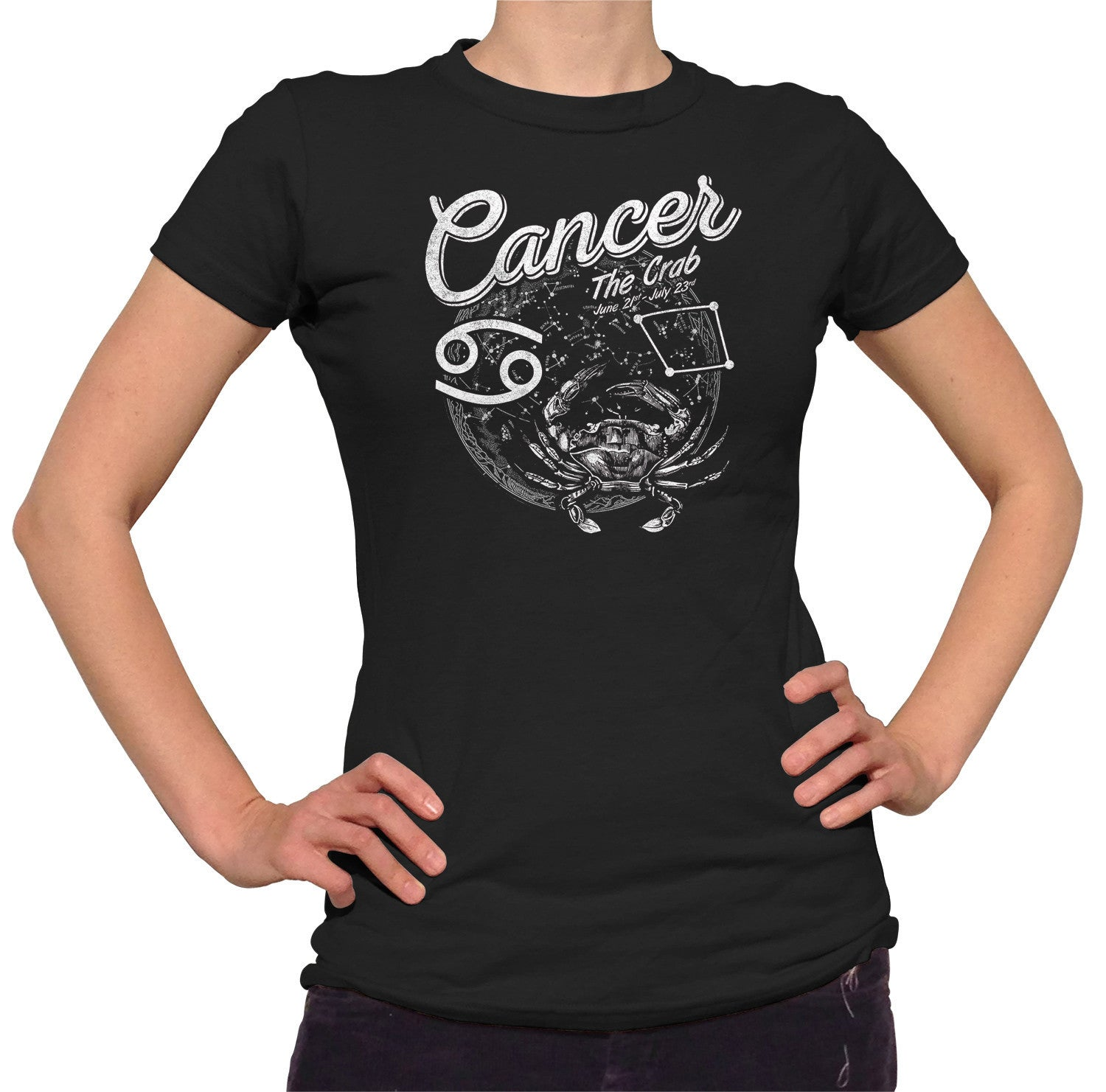 Women's Vintage Cancer T-Shirt