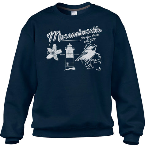 Unisex Vintage Massachusetts Sweatshirt