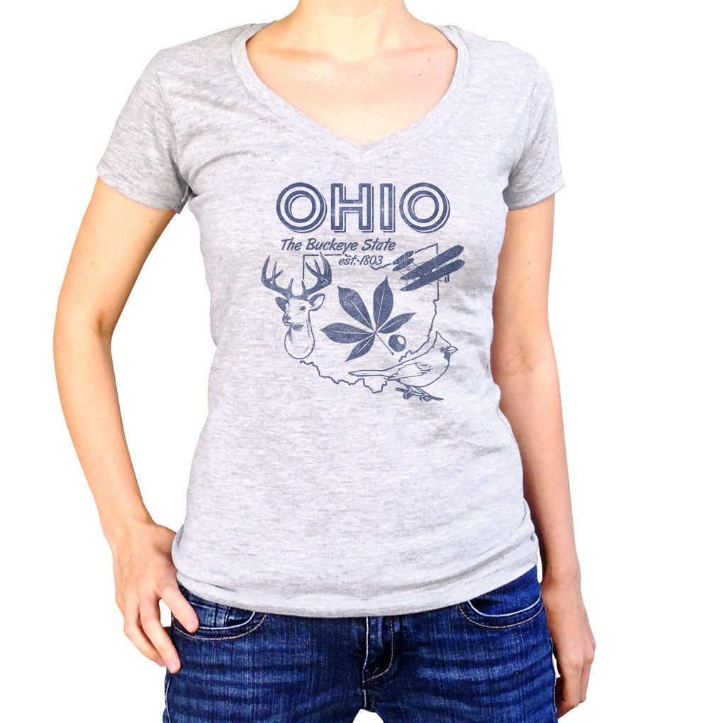 Women's Vintage Ohio State Vneck T-Shirt