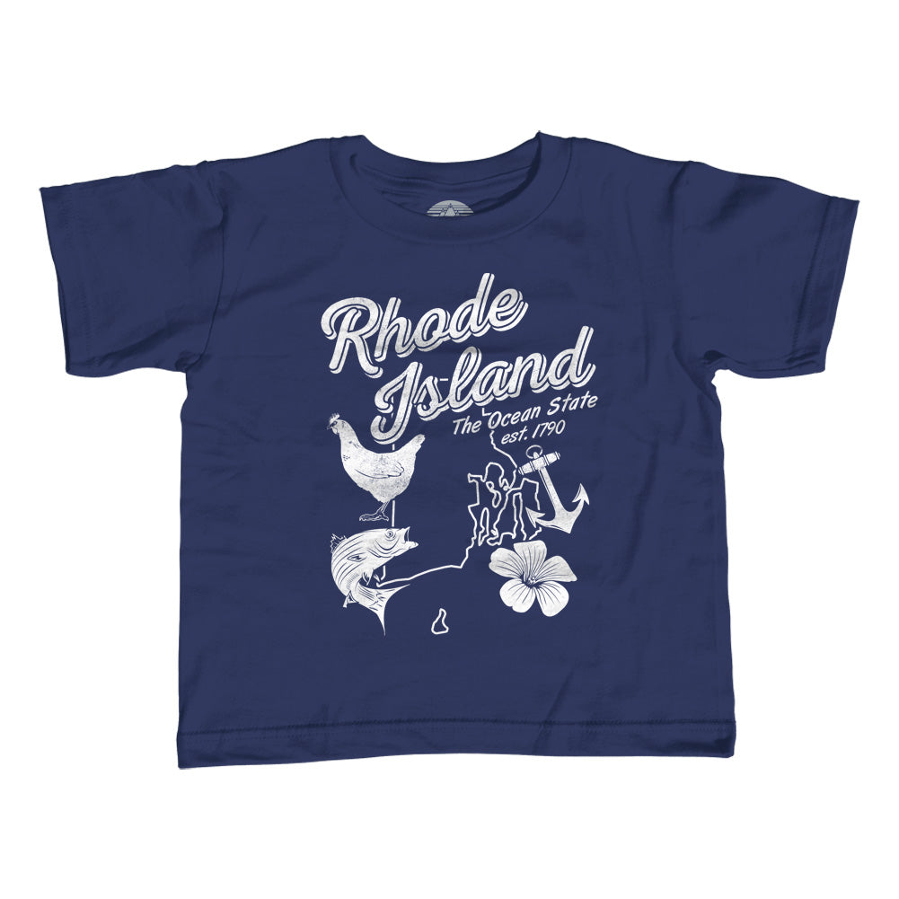 Girl's Vintage Rhode Island T-Shirt - Unisex Fit