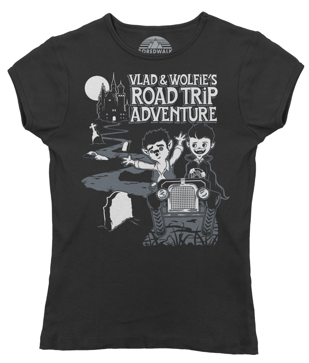 Women's Vlad and Wolfie's Road Trip Adventure T-Shirt - By Ex-Boyfriend