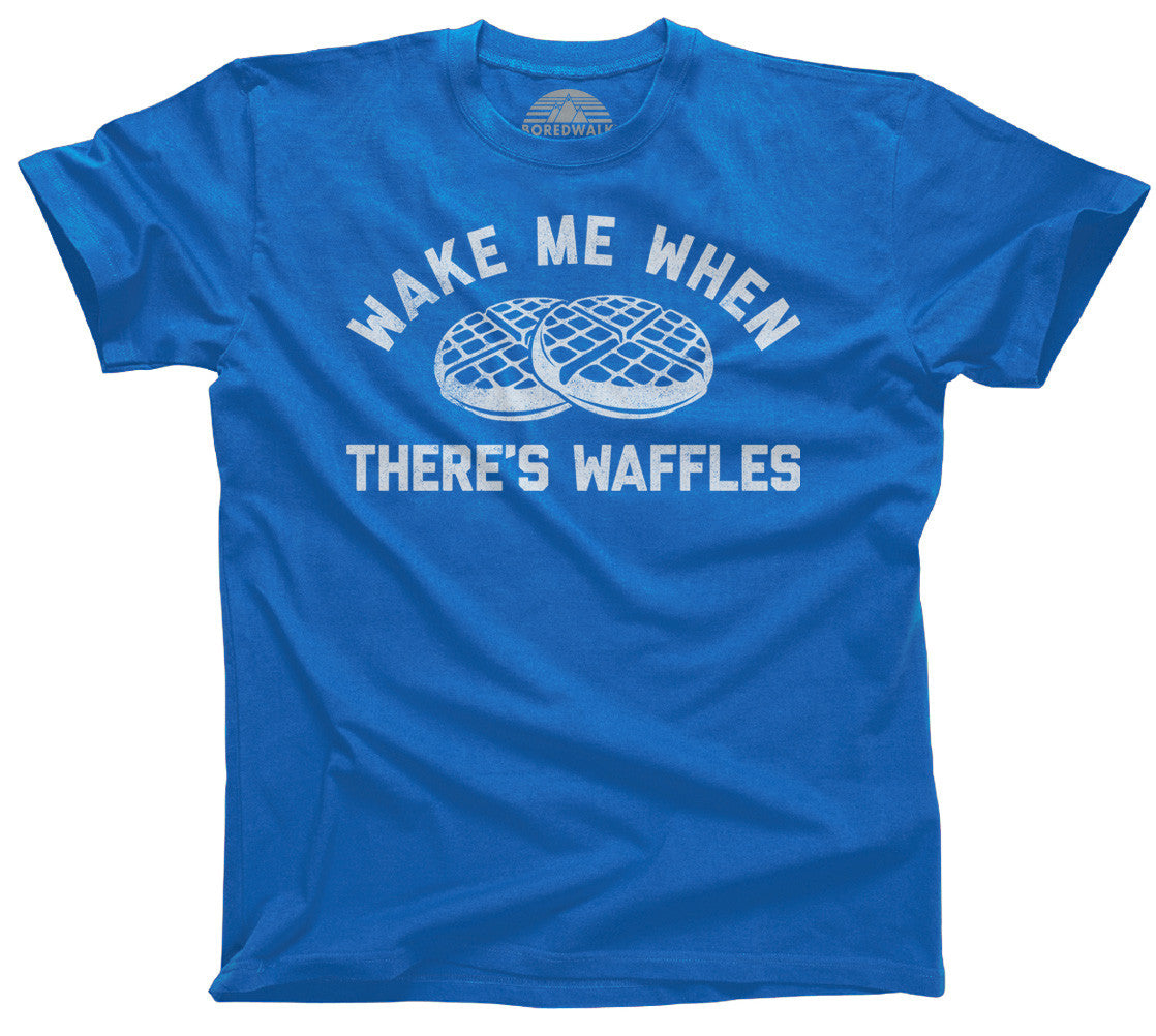 Men's Wake Me When There's Waffles T-Shirt - Funny Brunch Shirt