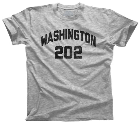 Men's Washington DC 202 Area Code T-Shirt