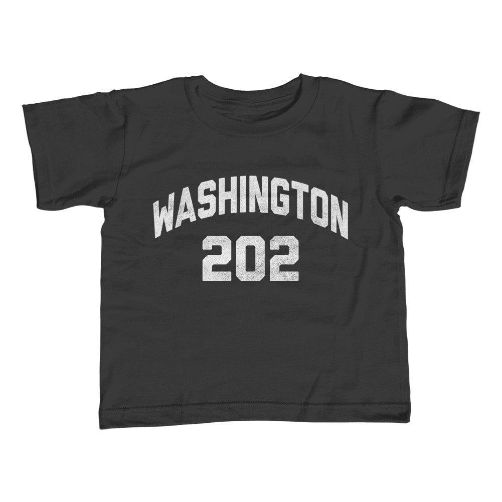 Boy's Washington DC 202 Area Code T-Shirt