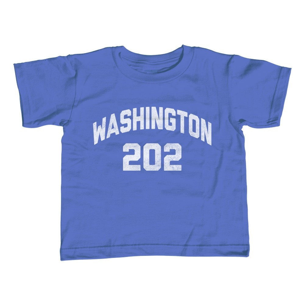 Girl's Washington DC 202 Area Code T-Shirt - Unisex Fit
