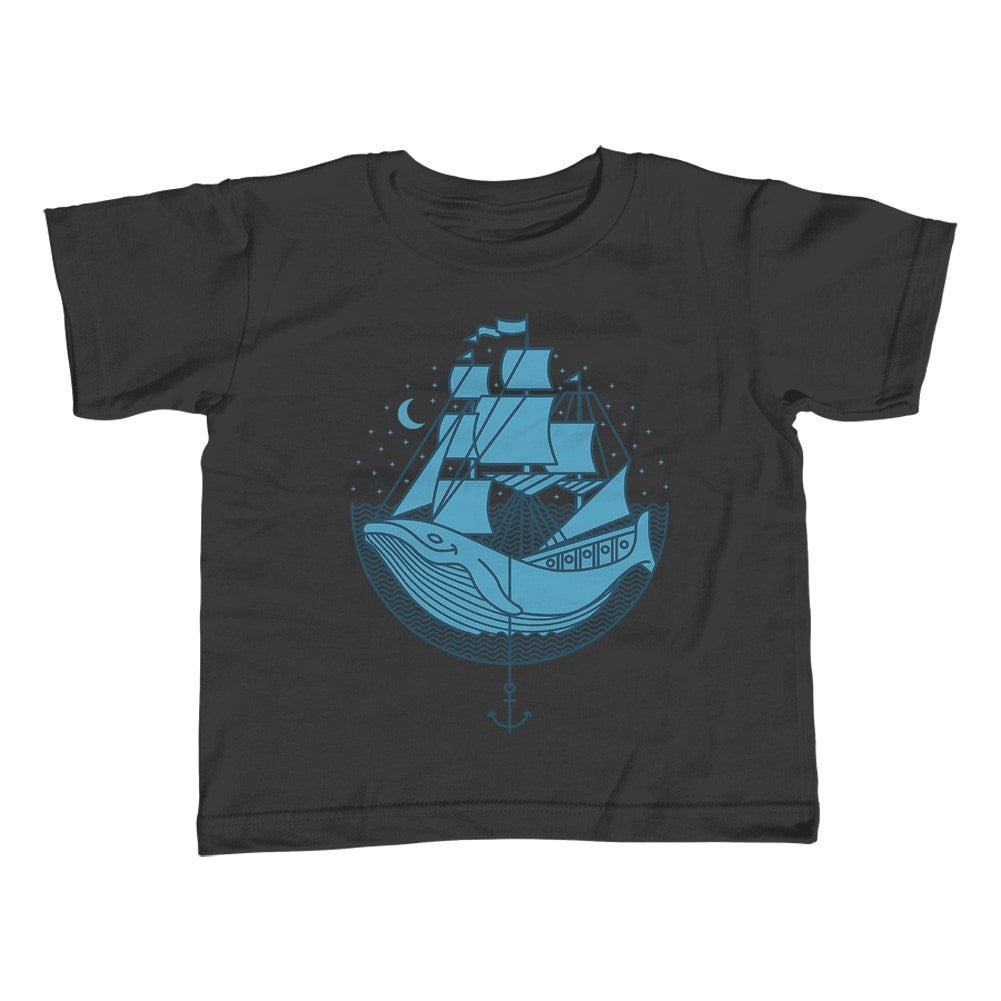 Girl's Whale Ship T-Shirt - Unisex Fit