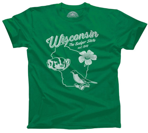 Men's Vintage Wisconsin State T-Shirt