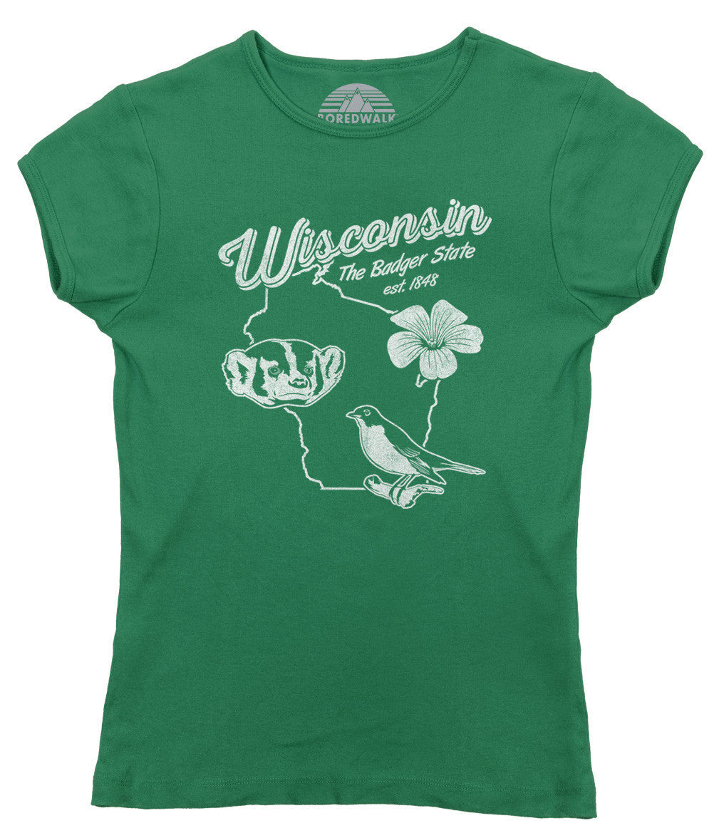 Women's Vintage Wisconsin State T-Shirt