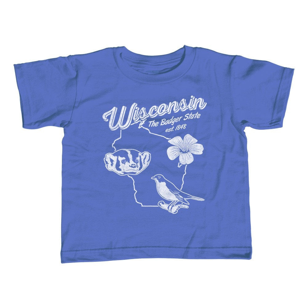 Boy's Vintage Wisconsin State T-Shirt