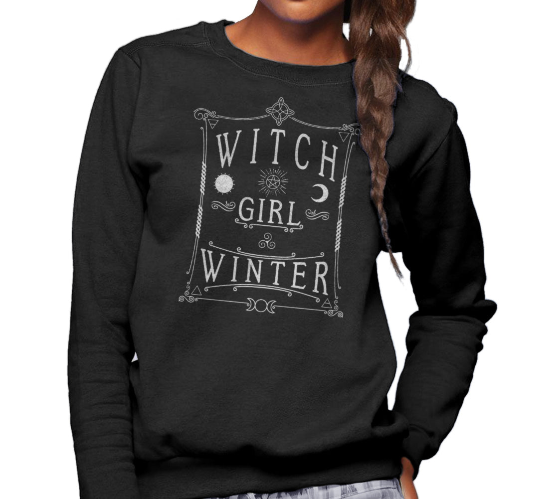 Unisex Witch Girl Winter Sweatshirt