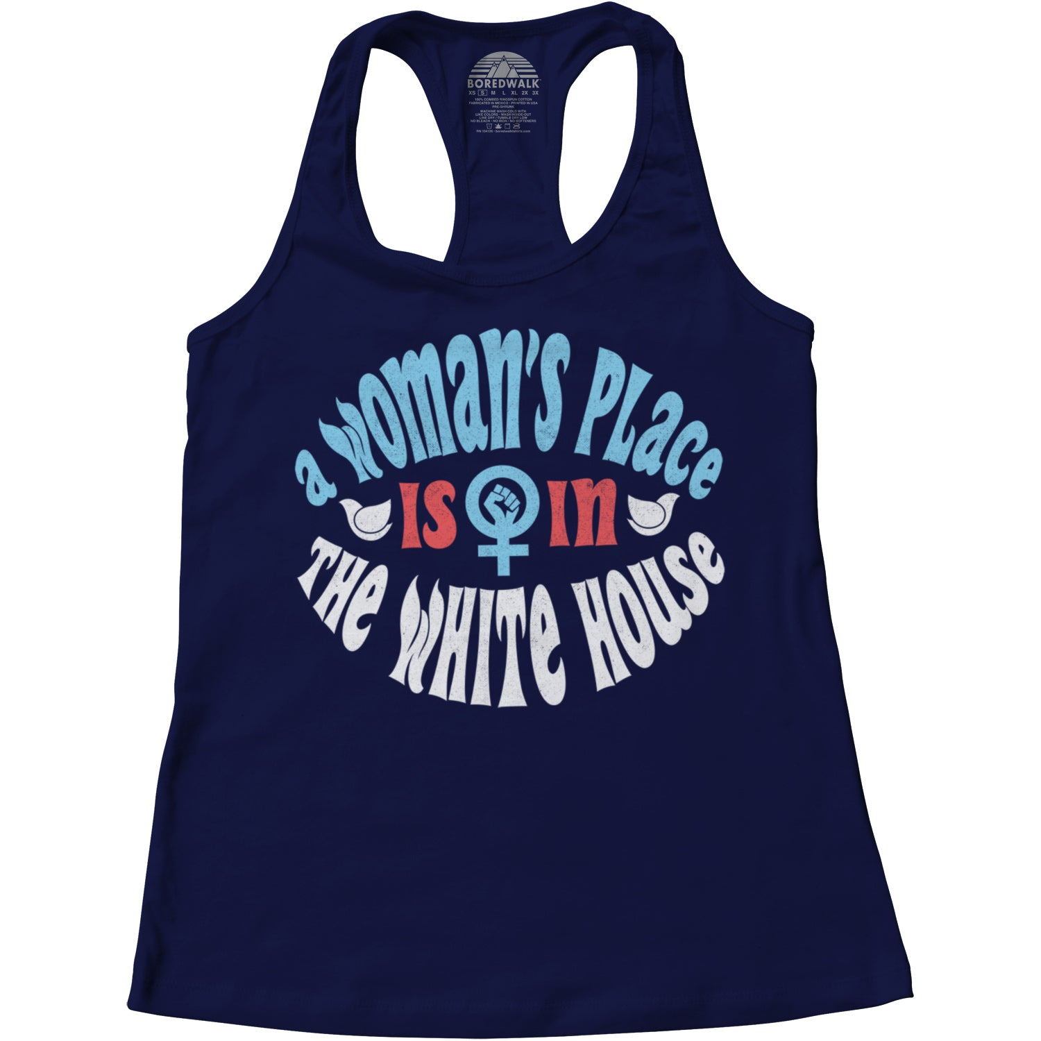 Women's A Woman's Place is in The White House Racerback Tank Top