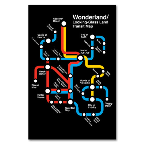 Wonderland Transit Map Print - By Ex-Boyfriend